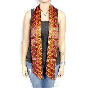 Boutique Double-sided Geometric Print Scarf